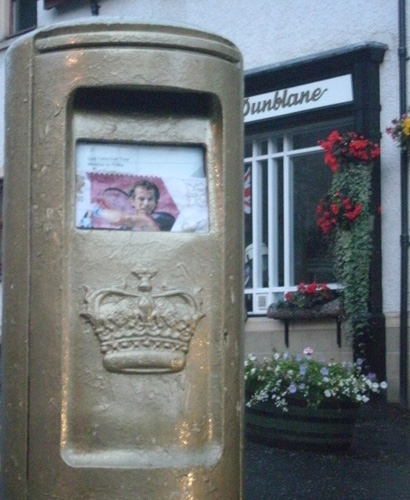 Dunblane Gold Post Box