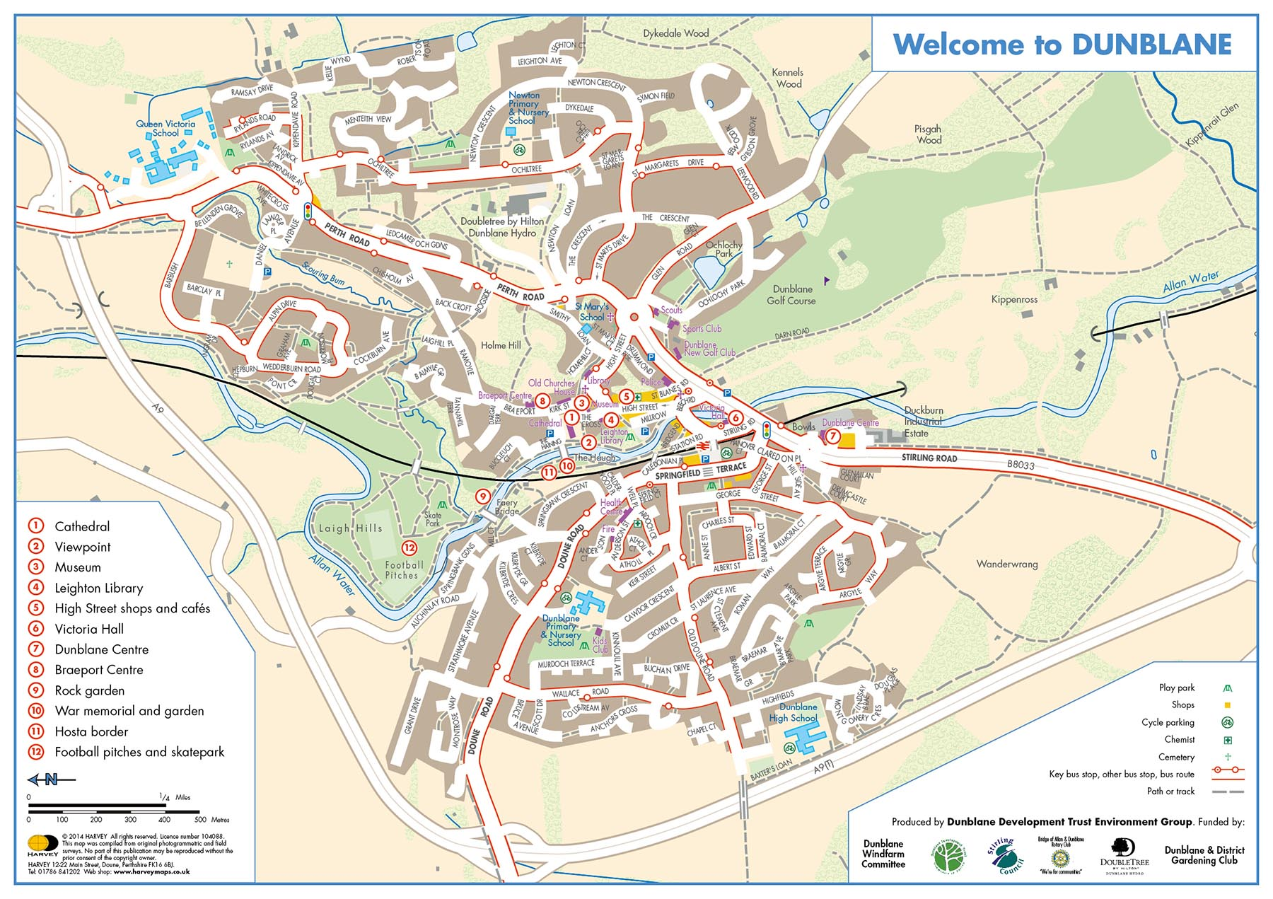Welcome to Dunblane map
