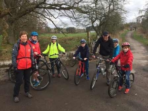 Old Doune Road now resurfaced for cyclists and walkers