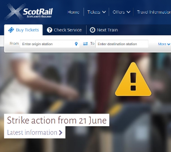 Disruption to Dunblane Trains : Strike action called off