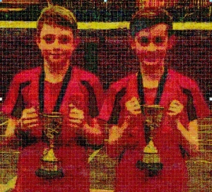 Graham & Finlay win badminton title