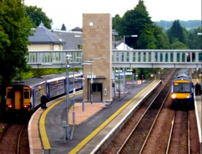 First Electric Train Arrives in Dunblane