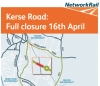 Kerse Road in Stirling now closed for 6 months