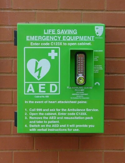 We thought there were 6 defibrillators in Dunblane - but NO there are 14