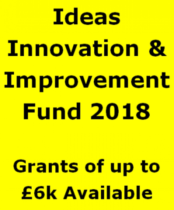 Ideas Innovation Improvement Fund 2018 Application Deadline 25 May 2018
