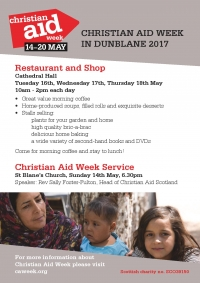 Christian Aid Week Activities in Dunblane - from 14 to 20 May