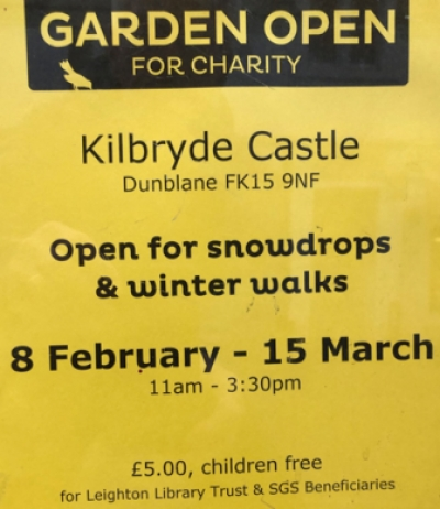 Snowdrop Walks at Kilbryde to 15 March