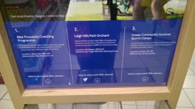 Vote at Tesco during January for the Laigh Hills Park Orchard