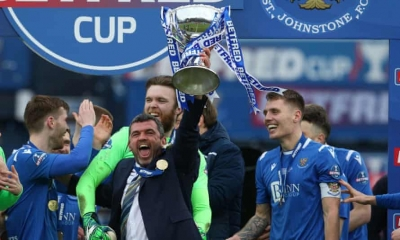 Dunblane's Callum Davidson leads St.Johnstone to cup victory